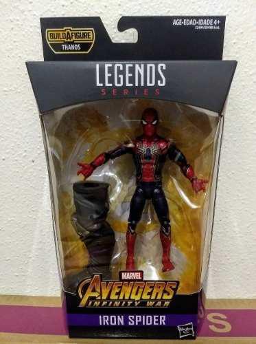 Iron spider spiderman marvel legends baf thanos