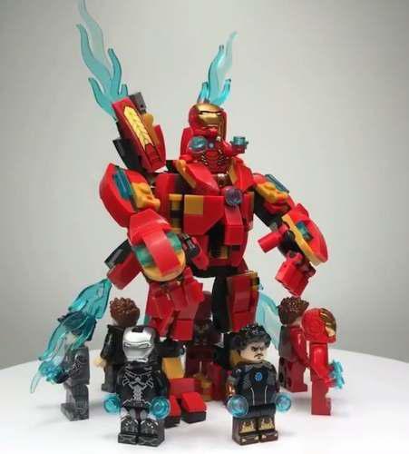 Ironman hulkbuster lego compatible infinity war +8 figuras.