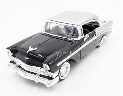 Jada 1:24 - 1956 chevrolet bel air showroom negro / plata