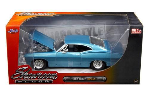 Jada 1:24 showroom floor 1967 chevrolet impala azul original