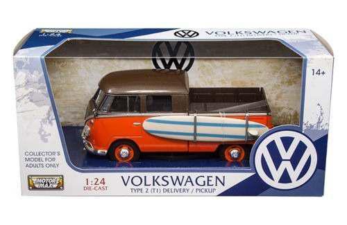 Motor max 1:24 volkswagen type 2 pickup con tabla de surf