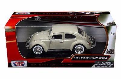 Motor max 1966 volkswagen beetle bug beige 1:24