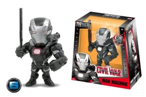 Set 2 figuras jada 6 pulgadas war machine + ironman con luz