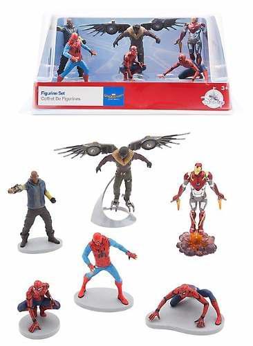 Spider-man: homecoming set figuras - disney store