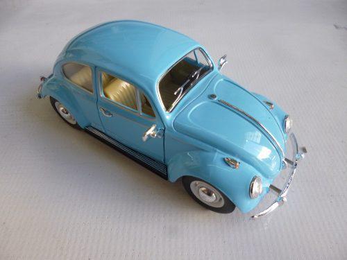 Vw sedan 1967 esc:1/24 kinsmart autos escala coleccion azul