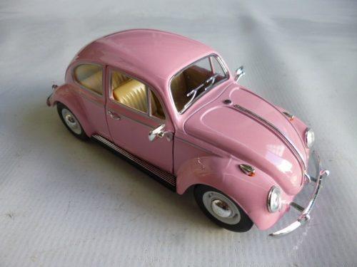 Vw sedan 1967 esc:1/24 kinsmart autos escala coleccion rosa