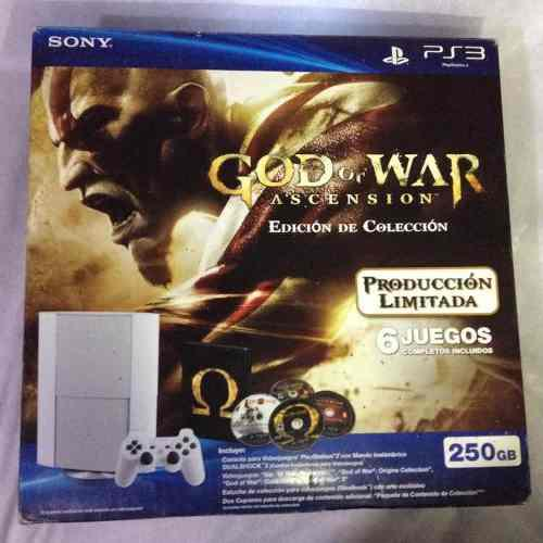 Consola ps3 blanco edición god of war
