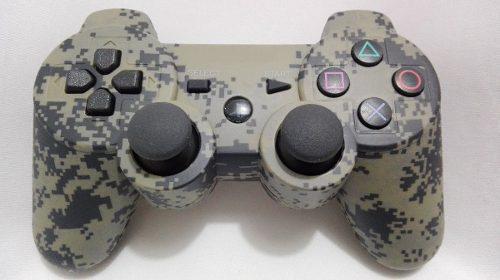 Control para ps3 dualshock camuflaje militar sixaxis