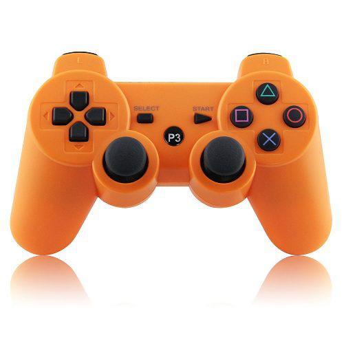 Control ps3 naranja inalambrico generico