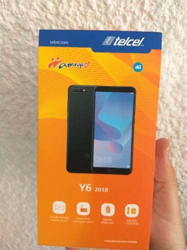 Huawei y6 2018 negro liberado nuevo y sellado modelo atu-lx3