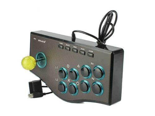Joystick control arcade usb para pc ps2 y ps3. 12 botones