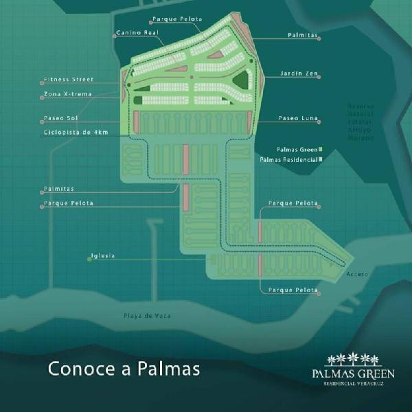 Terrenos en ventas desarrollo residencial palmas green,