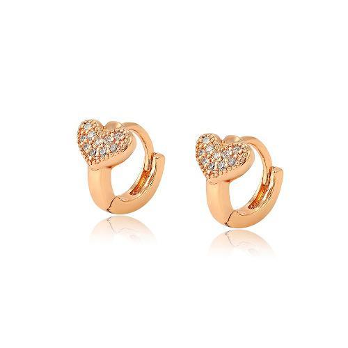 69b760b861d3 Arracadas oro 18k lam niña corazón c zirconias diamante
