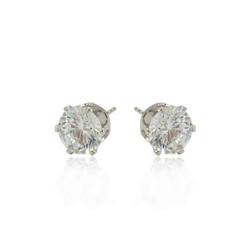 7d47f6e53f5b Broqueles oro blanco 14k lam con zirconias corte diamante
