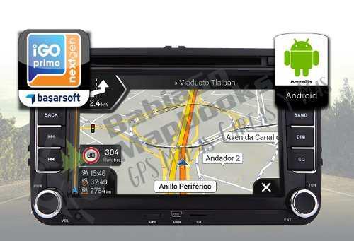 Navegador mapas gps estereo multimedia pantalla android 2019