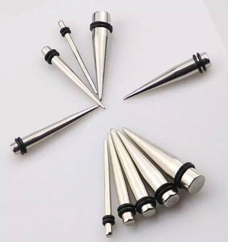 2ae708430204 Par expansor acero quirúrgico espina aretes piercing envío