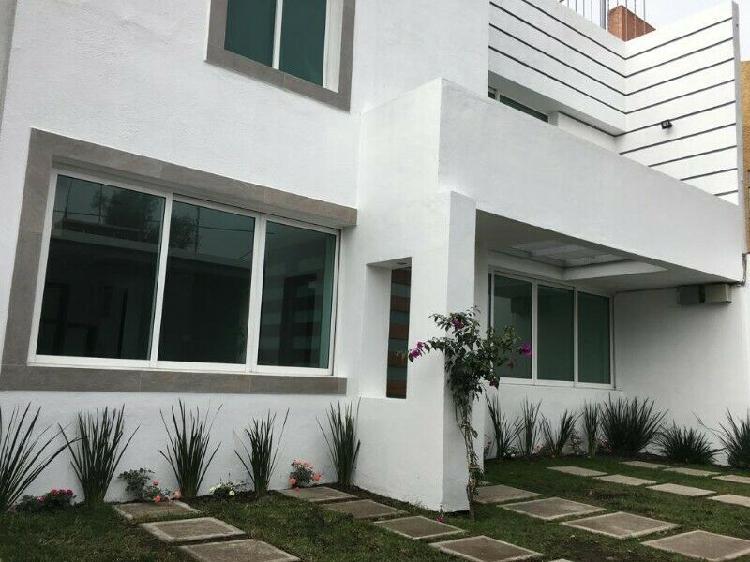 Renta casa bosque residencial del sur xochimilco
