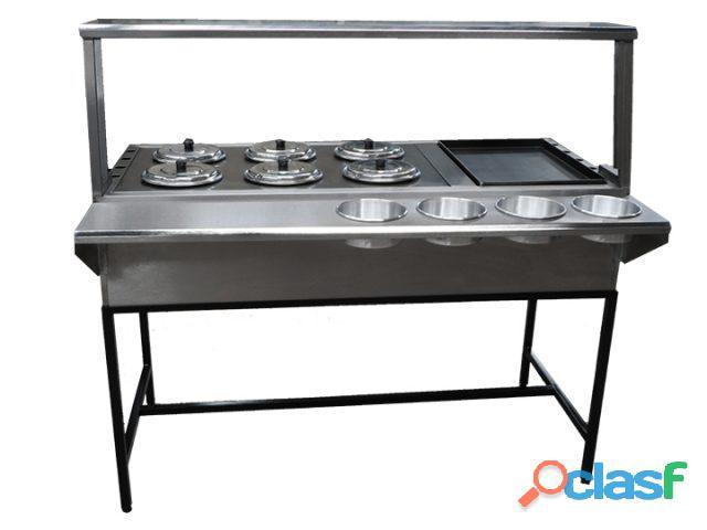 Mesa caliente de acero inoxidable