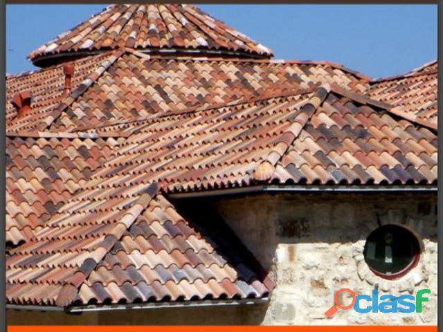 Teja de barro natural roof tile en Dolores Hidalgo