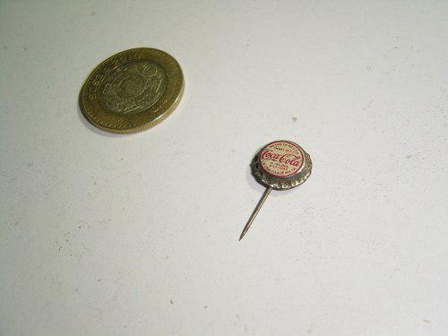 Fistol pin corcholata miniatura otra coca cola original 50's