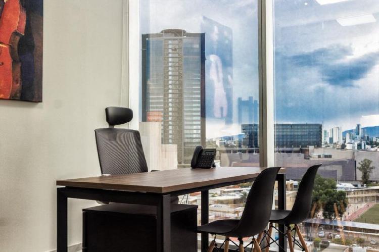Renta oficina amueblada en av. chapultepec con todos los