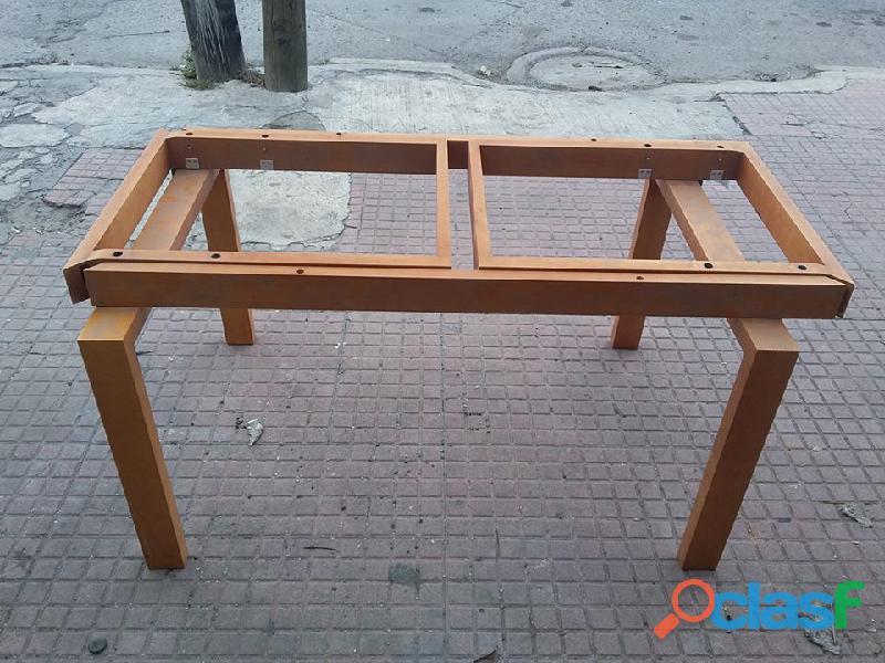 Base de madera de comedor para 4 expandible a 6 personas