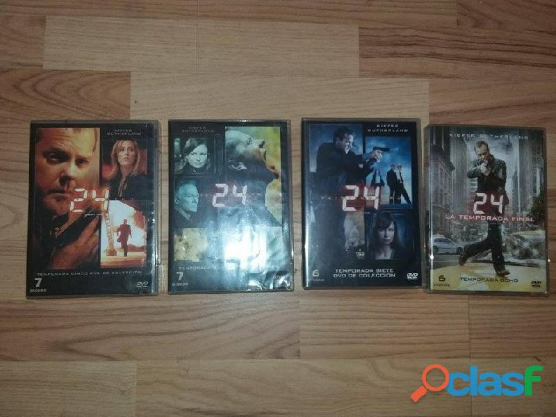 Serie 24 veinticuatro temporadas 1,2,3,4,5,6,7 y 8 2