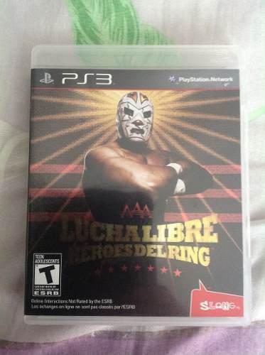 Juego lucha libre heroes del ring disco físico para ps3