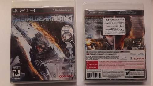 Metal gear rising revengeance ps3 2 discos nuevo sellado