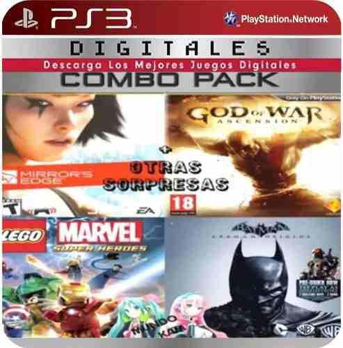 Oferta de ps3 (4 juegos + sorpresas) licencia digita