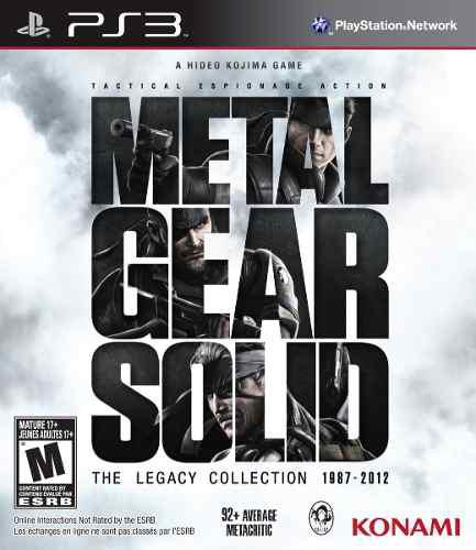Ps3 - metal gear solid legacy collection - nuevo - ag