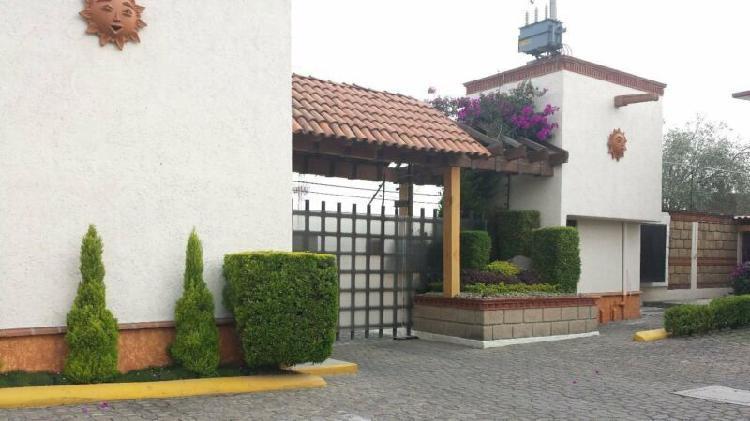 Renta hermosa casa amueblada, metepec, estado de mexico /