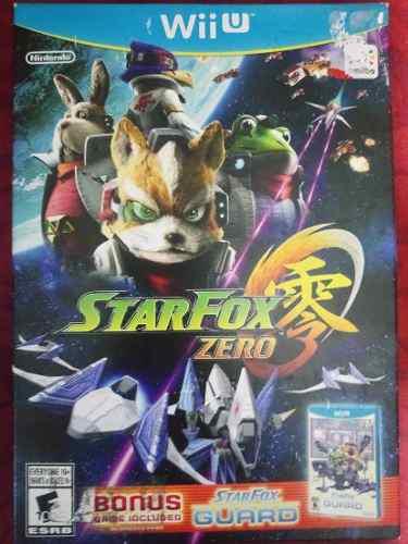 Star fox zero para wii u nuevo y sellado.incluye sfox guard