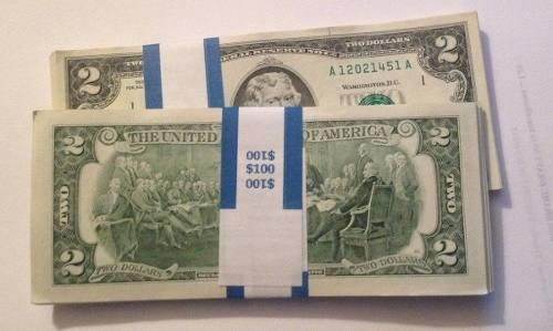 Billete 2 dolares usa 2003 * nuevo * +suerte