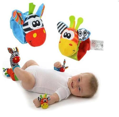 Set calcetines y pulseras sonajero bebés peluches juguetes