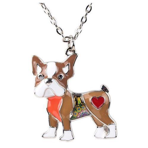 Bulldog francés collar dije perro bonsny mandala regalo