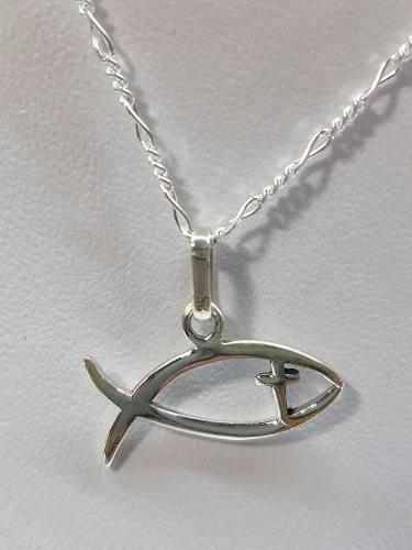 418f3a46a026 Dije de pez cristiano cruz plata ley.925 incluye cadena