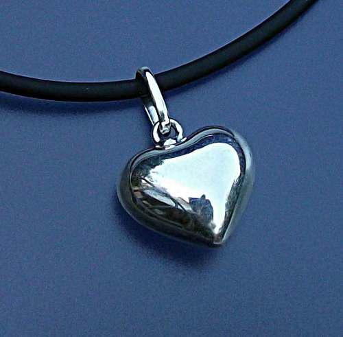 1c9ee9741274 Dije llamador de angeles corazon liso plata ley.925 en México ...