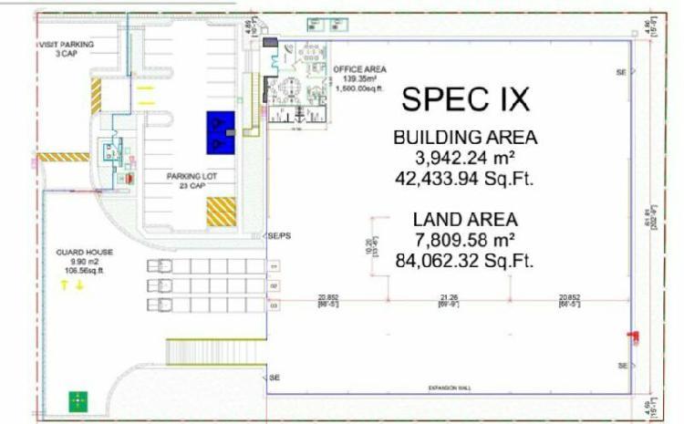 Nave industrial venta/renta. área disponible de 3942 m2