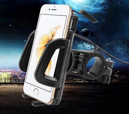 Porta celular para motocicleta con cargador usb