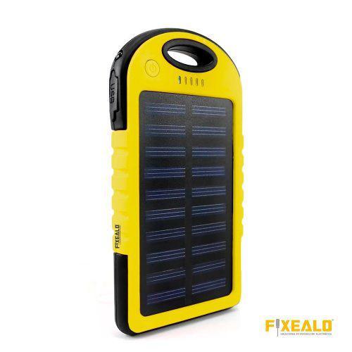 Power bank batería pórtatil solar carga 4 veces 12000 mah