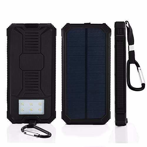 Power bank uso rudo solar linterna led 8000 mah - t844