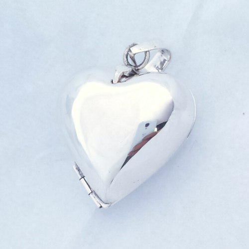 Relicario portaretrato corazon grande 2 fotos plata.925 16bb01c2dbb