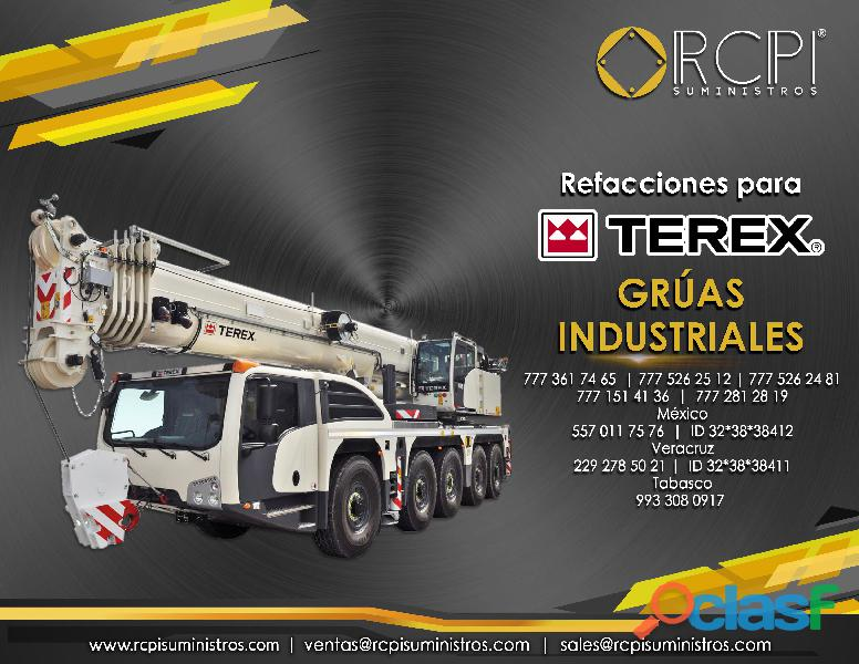 Recambios para grúas industriales Terex