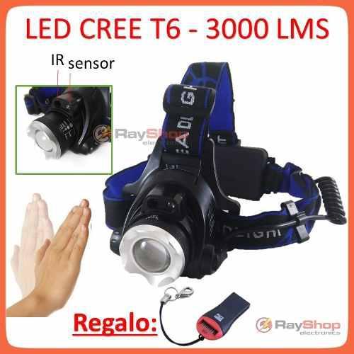 5 pzs lámpara minera cabeza sensor 3000 lms mayoreo dt320