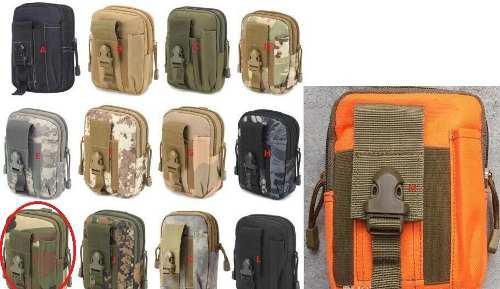 Kit 10 mochilas de cintura molle táctica celular militar