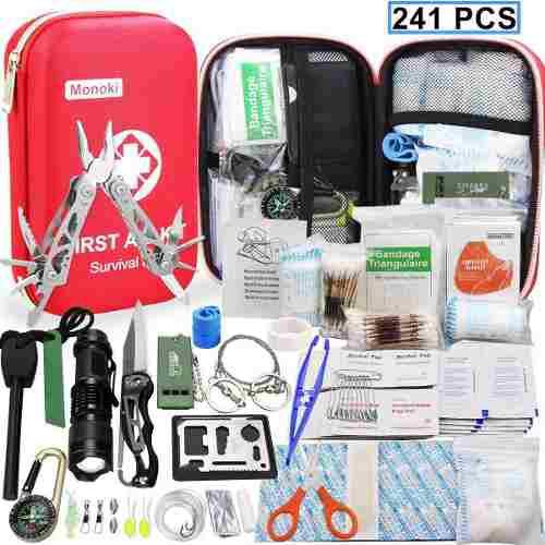 Kit monoki 241 piezas supervivencia primeros auxilios campin