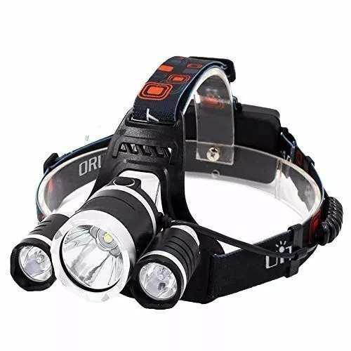 Lampara minera minero luz led t6 casco cabeza ciclismo m146