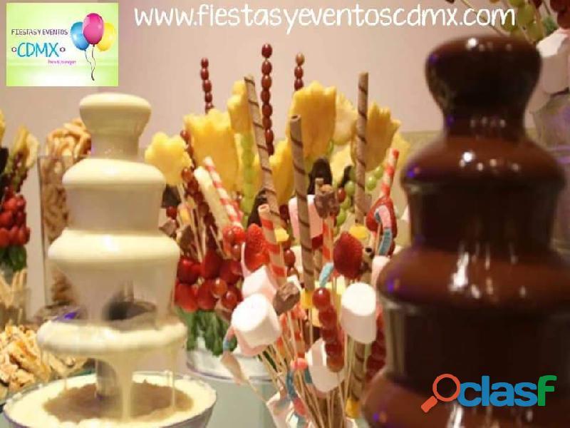 Fuente Chocolate Chamoy Servicio Anuncios Diciembre