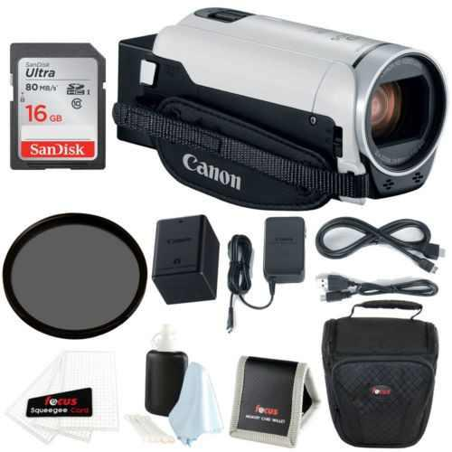 Canon vixia hf r800 con la videocámara (blanco) 16gb